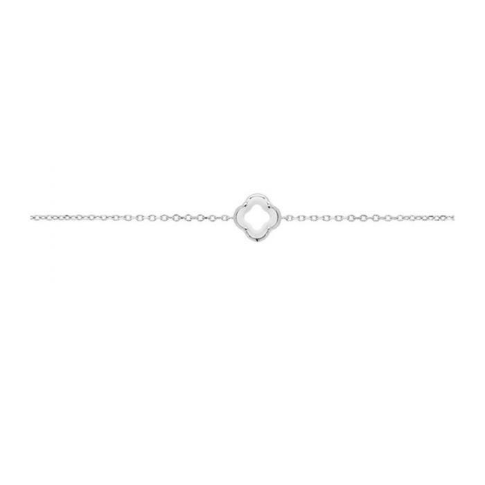 Bracelet trèfle ceramique et argent Ceranity 1-32/0062-B Blanc