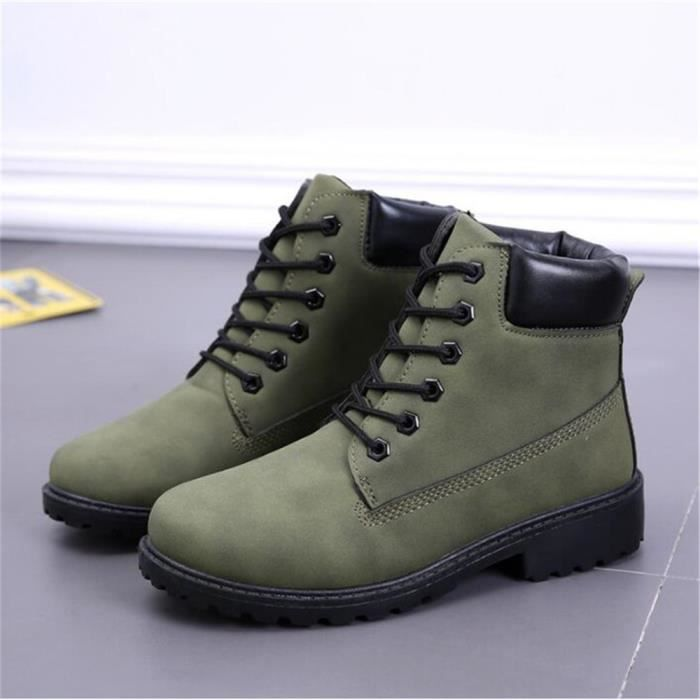 Dtg Boots Cuir Bottines En xz020vert46 Homme Casual Martin Og7YqxXSn