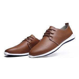 Mocassins en cuir Brillant pour homme taille 38-44,marron,8.5,5264_5264