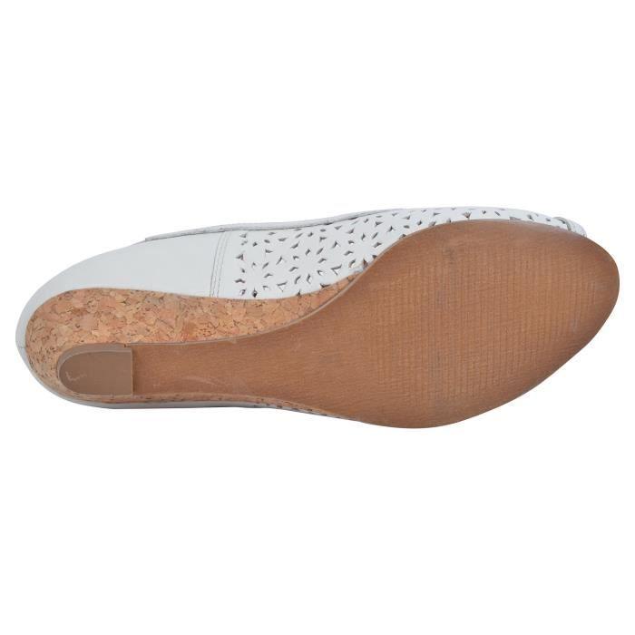 ballerines en cuir pour femmes NEJQN Taille-37