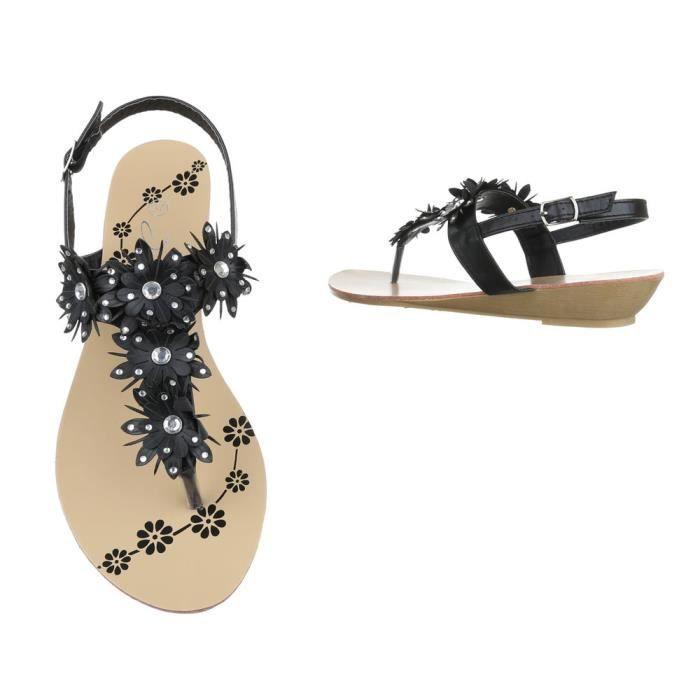 femme sandale chaussure chaussures d'été chaussures de plage l'orteil séparernoir 2u20gTma