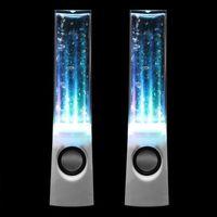 ENCEINTES 2pcs LED danse haut-parleur stéréo Speaker musique