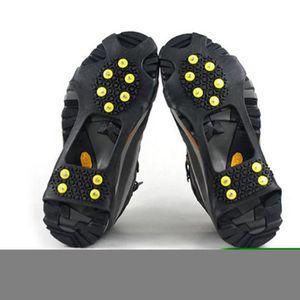 CRAMPON POUR GLACE logei® Crampons pour Chaussure avec 10 Clous antid