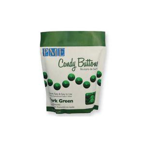 CONFISERIE DE CHOCOLAT PME - Candy Buttons de chocolat blanc Vert foncé
