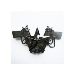 CEINTURE ET BOUCLE boucle de ceinture pistolet étoile noir rockabilly ac9c8abc217