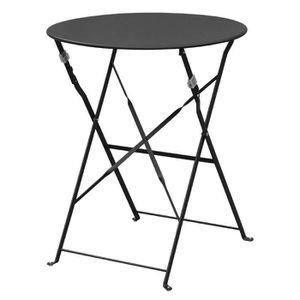 MANGE-DEBOUT Boléro Noir Pavement style acier Table 595mm