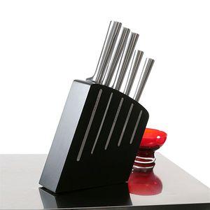 ENSEMBLE DE DÉCOUPE Bloc de 5 couteaux de cuisine Kimono noir inox