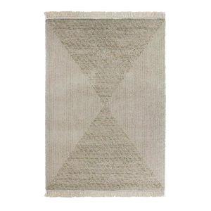 TAPIS KENSINGTON Tapis laineux 120x170cm Beige & Ocre Cr
