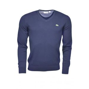 PULL Pull col V Lacoste bleu marine pour homme