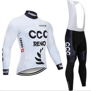MAILLOT DE CYCLISME 2019 CCC Maillot de Cyclisme Manches Longues Homme