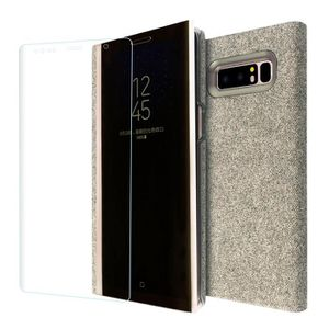 Pour Samsung Galaxy Note 8 Clear View Mirror Leather Flip Stand Case Covercoque HM10041 rapoSX
