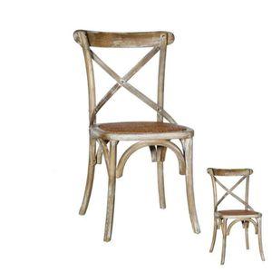 gris Chaise en Achat pas cher bois Vente f6yvYb7g