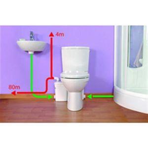 BROYEUR POUR WC Watermatic Broyeur haut débit adaptable sur cuvett