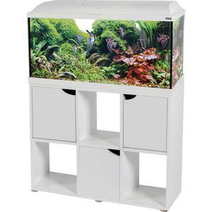 AQUARIUM Kit Aqua Iseo 100 cm Blanc + Meuble 106L