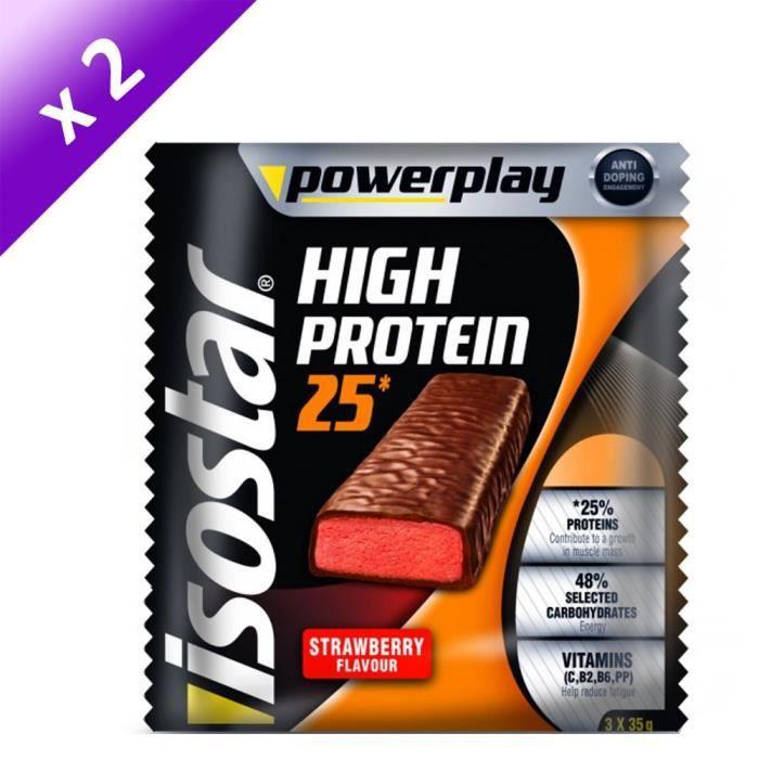 ISOSTAR Barres de High Protein 25% Strawberries - 105 g x2