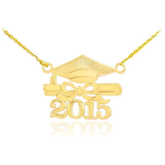 Pendentif Pendentif 14 ct Or 585/1000Classe de 2015 Graduation-