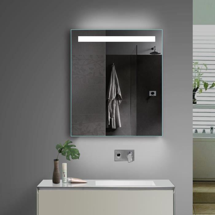 Lux-aqua Design Miroir de Salle de Bains avec lumière Chaud-Froid au ...