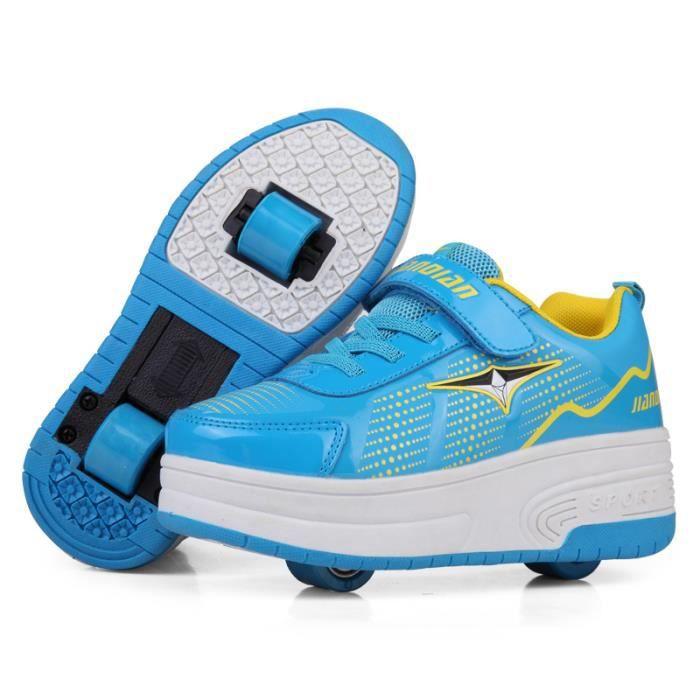 Mode Baskets Enfants Chaussures à Roulettes Garons Filles Sneakers Avec Roues Automatique De Patinage Chaussures