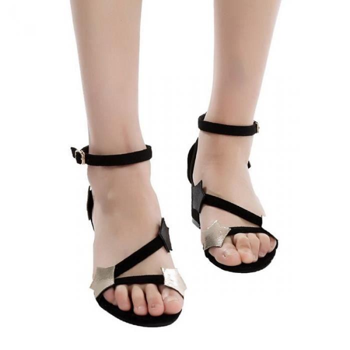 Sandale à talons moyens sangle de cheville
