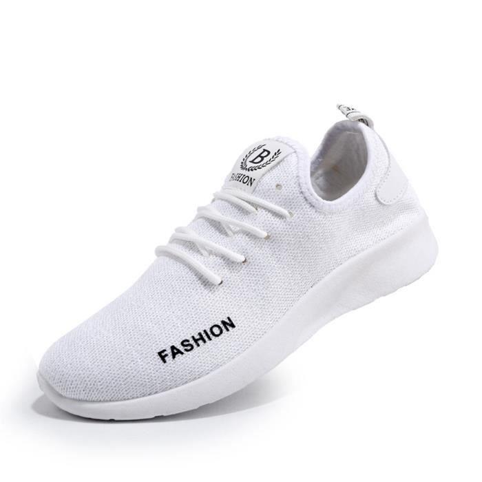 Baskets hommes Confortable Respirant Chaussures de sport 2017 nouvelle marque de luxe chaussure Antidérapant Plus Taille Basket Mode