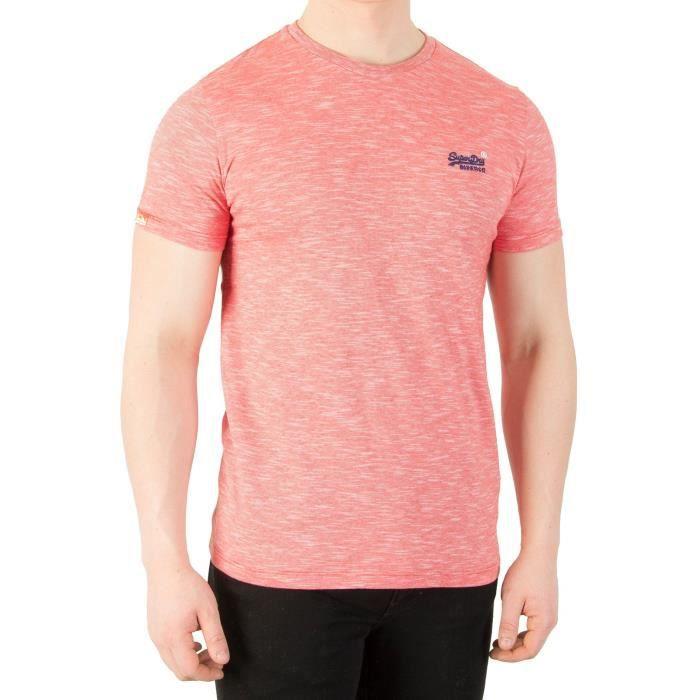 ba1a13a8 Superdry Homme T-Shirt Vintage Label Orange, Rouge Rouge Rouge ...