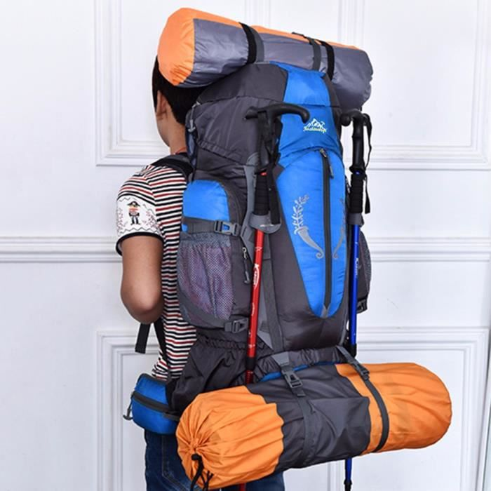 YOSICL®85 grande capacité extérieure imperméable à leau sac à dos hommes de haute qualité sport randonnée escalade voyage sac à dos