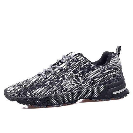 Chaussures Un Pour Mode on Compensé Maille Homme Slip Respirante Athlétique Casual Amorti Loisir CrxBeWQod