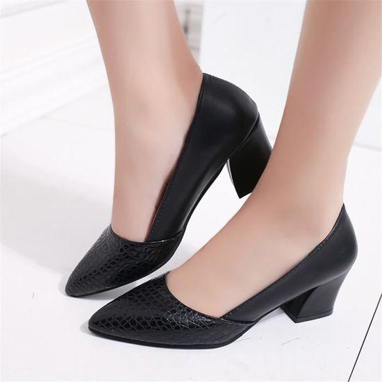 Escarpin Taille Chaussures En Durable Super Femmes Mode Confortable 35 Grande 40 Cuir TlF1JcK3