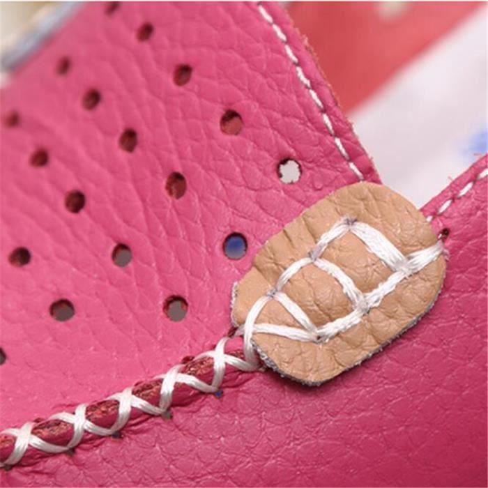 Moccasin Femme Marque De Luxe Chaussures 2017 ete Nouvelle arrivee Confortable Antidérapant Respirant Moccasins plates Plus Taille
