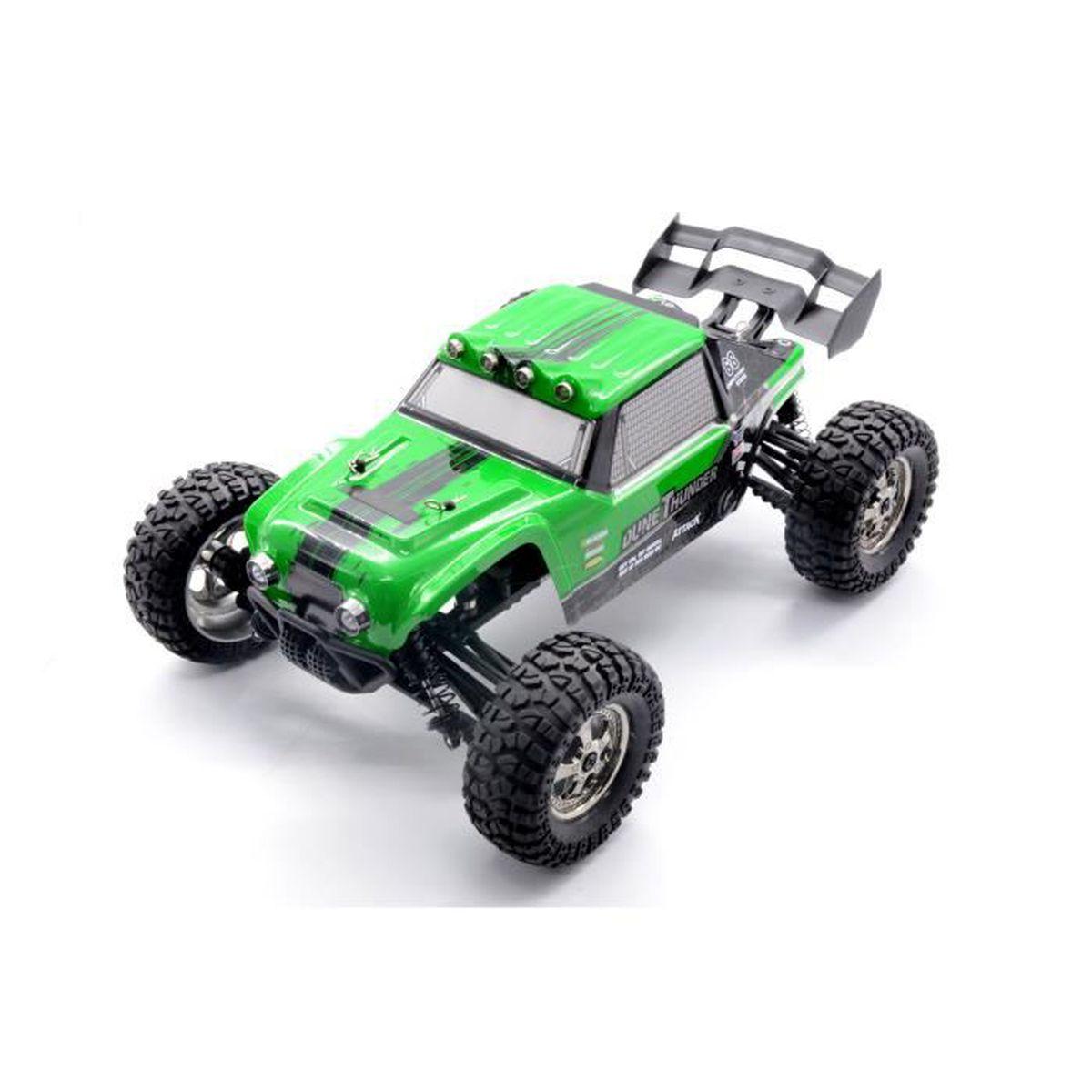 b75d1ce09ae2d0 KELIWOW 1 12 4WD voiture RC imperméable à l eau avec LED allume 2.4GHz  25MPH Desert Off-Road Buggy (vert)