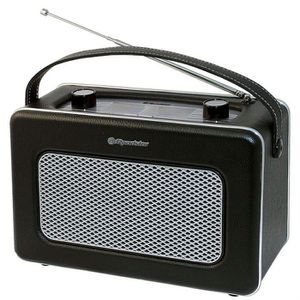 ROADSTAR TRA 1958N BK Radio Mono Style Retro Vintage - Présentation Simili Cuir - Tuner Am/Fm Analogique - Prise Casque