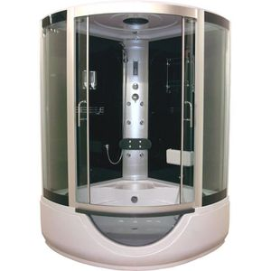 Cabine de douche hydromassante Skadi 1/4 cercle 100 cm - Montage ...