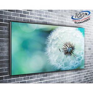 TABLEAU - TOILE Néon pissenlit fleur toile impression photo panora