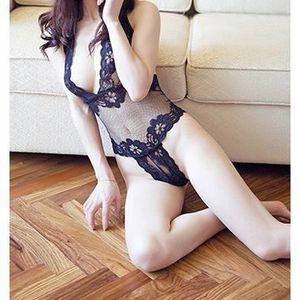 ENSEMBLE DE LINGERIE Noir siamois serrés pyjama sexy lingerie sexy cost