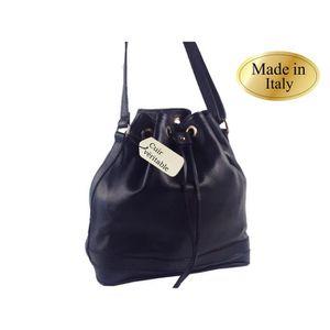7faa595409 Bourse noire cuir véritable épaule mode femme - Achat / Vente bourse ...