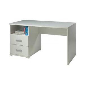 Bureau blanc enfant avec tiroir Achat Vente Bureau blanc