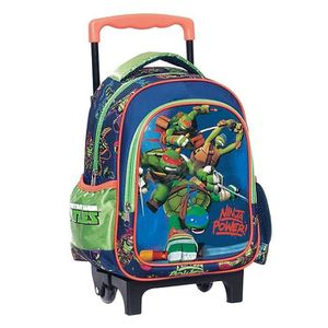 CARTABLE Sac à roulettes trolley maternelle Tortue Ninja Po