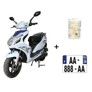 SCOOTER Scooter CKA R8 50cc 4T bleu/blanc+ IMMATRICULATION