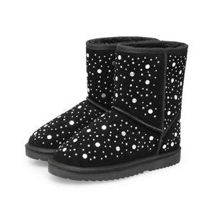 chaudes de peluche de neige mode de d'hiver bottes Bottes de neige bottes neige en la de garder bottes femmes air les en plein HqAwP