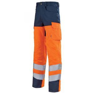 PANTALON PRO Pantalon de travail haute visibilité orange hivi e