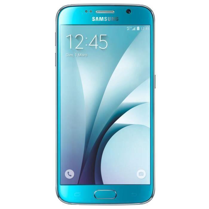 Samsung Galaxy S6 Bleu 64Go 3Go - Bluetooth 4 1 - NFC - Nano SIM