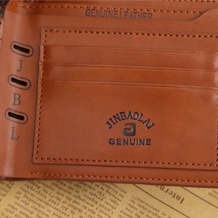 Zy000108 Porte Carte Bourse D'embrayage Bifold Crédit Café Cuir De brown Hommes Frankmall monnaie Billfold En HZwq6ZOAX