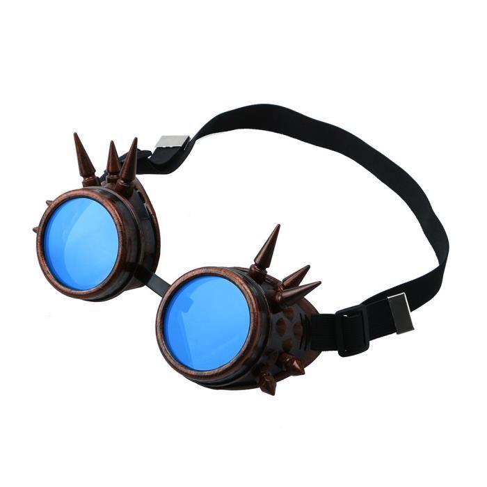 Vintage victorienne steampunk lunettes de soudage cyber punk gothique cosplay PAC3698459