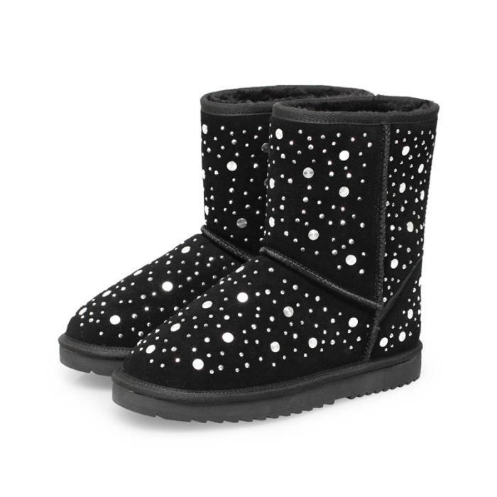 Bottes de neige d'hiver de femmes de la mode garder les bottes chaudes bottes de neige en plein air bottes de neige en peluche