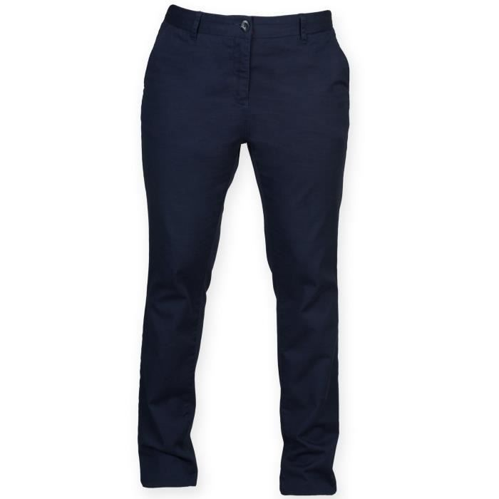 5c5f2661a Front Row - Pantalon stretch style chino - Femme