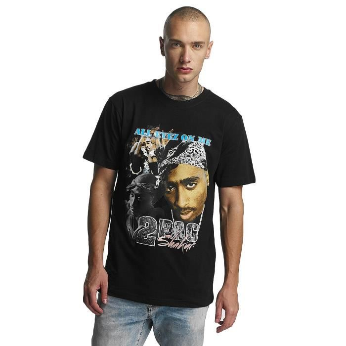 Tee Retro Noir Shirt Achat T Hauts Mister Homme Tupac tshQrdCx