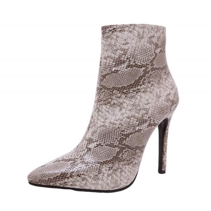Peep En Hauts Hiver Toe Bottes Serpent Pour Mode Femmes Peau Nouveau De Talons Romaines Chaussures Automne À cqaEEf0ZT
