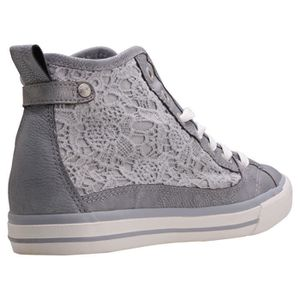 Mustang High Top With Embroidery Femmes Baskets Red - 40 EU fIEZsSnI1
