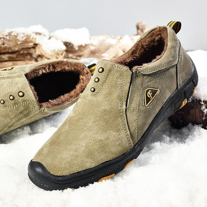 Bottes en de chaud New de 45 Mode d'hiver Plus 38 coton hommes Casual plein Size neige 2017 air Chaussures Chaussures wYI8Szzq
