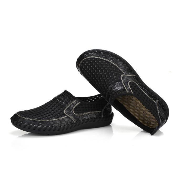Slip Été Respirant On Chaussure DTG XZ070Noir44 Comfortable Homme Chaussures Printemps PXAAFv